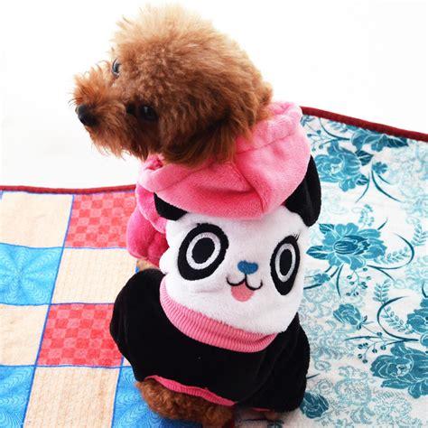 small puppy clothes small big clothes autumn winter panda design pet coat clothes for buy