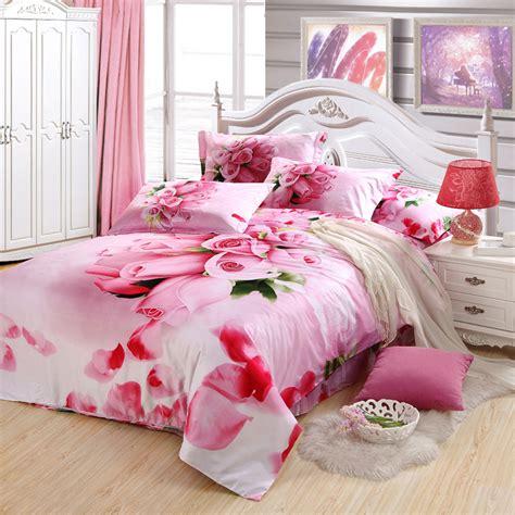 Anaya Set Pink Da Pink Flower Bedding Set For King Size