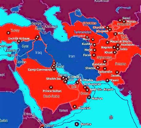 middle east map us bases to nyt diplomatic and unilateral don t what you