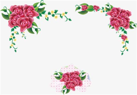 Wedding Invitation Border Eps by Pink Flowers Border Border Flower Decoration