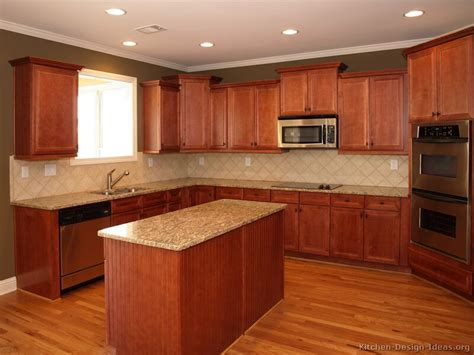 Kitchen Colors Medium Wood Cabinets Pictures Of Kitchens Traditional Medium Wood Kitchens