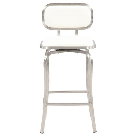 Brushed Stainless Steel Counter Stools by Swivel Counter Stool White Brushed Stainless Steel Base