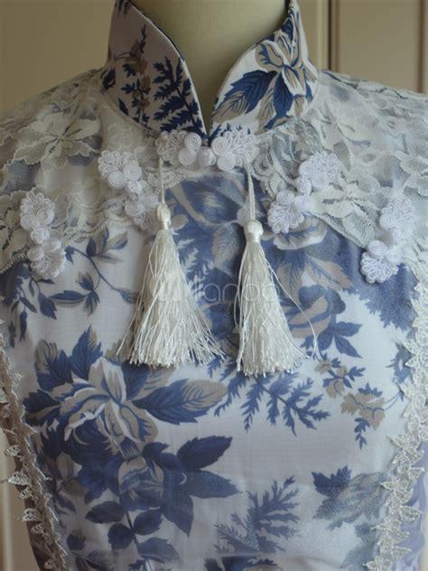Dress Cotton Sweet Blue D203c3 sweet blue cotton sleeveless lace dress milanoo