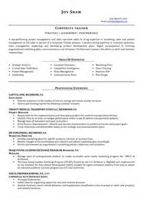 Business Trainer Sle Resume by Resume For Corporate Retail Ebook Database