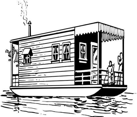 houseboat clipart black and white houseboat clip art at clker vector clip art online