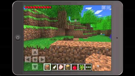 play full version of minecraft on ipad minecraft pe pocket edition ipad mini gameplay
