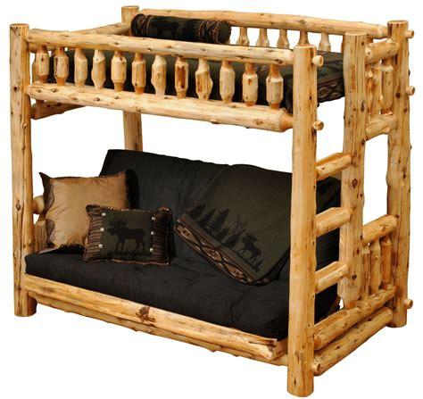 Cedar Log Bunk Beds Cedar Futon Log Bunk Bed From Fireside Lodge 10150 Coleman Furniture