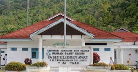 Daftar Raket Rs Lengkap daftar rumah sakit di aceh singkil lengkap alamat no telepon fasilitas rsud umum dan rs swasta
