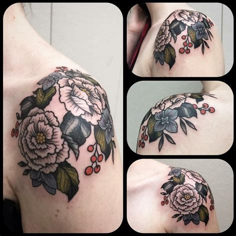 grizzly tattoo portland hydrangeas and begonias by graham at grizzly