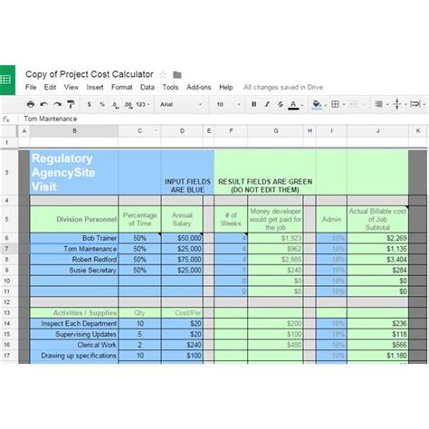 10 Great Google Docs Project Management Templates Project Cost Summary Template Excel