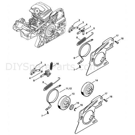 stihl ms  chainsaw ms  parts diagram chain brake