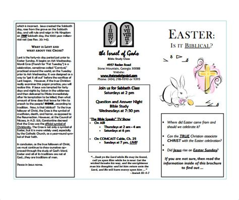 leaflet writing layout easter brochure template 13 free sle exle