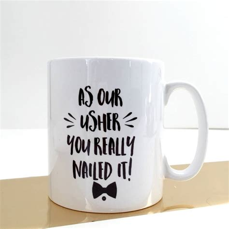 wedding gift mugs usher wedding thank you gift mug by connor designs
