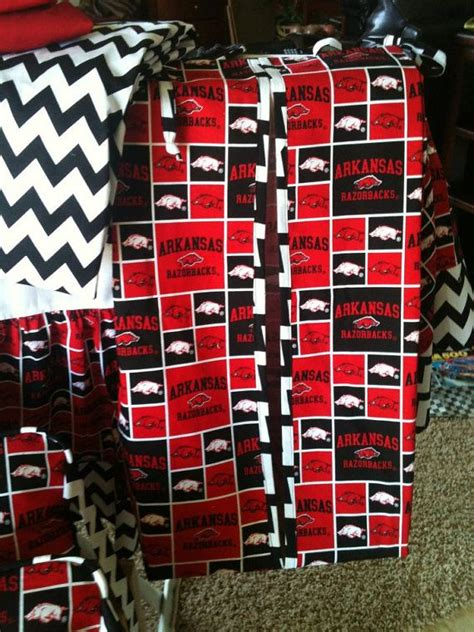 Razorback Crib Bedding by Arkansas Razorback Crib Bedding By Laineybelleboutique On
