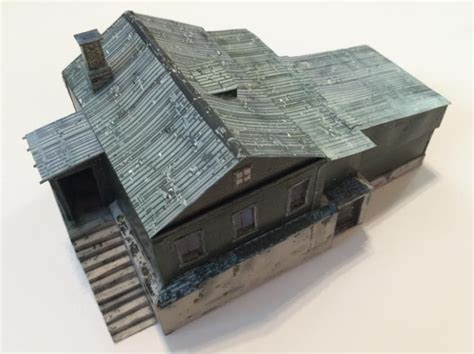 Papercraft Buildings - papermau dayz chalet chernarus paper model in 1 72
