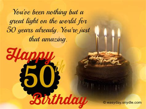 Happy Fifty Birthday Wishes 50th Birthday Wishes Easyday