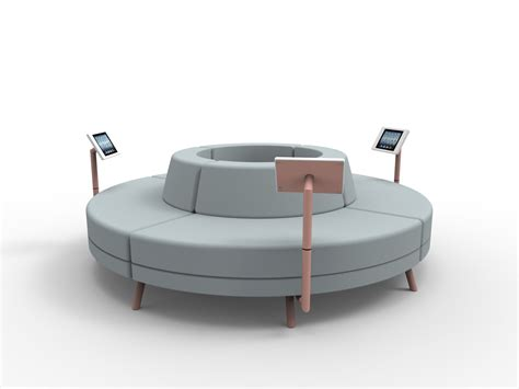 rounded couches addon furniture enriching the wait