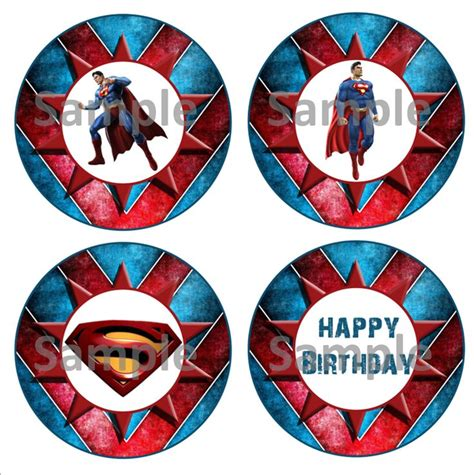 5 best images of superman cupcake toppers printables superman logo cupcake topper free
