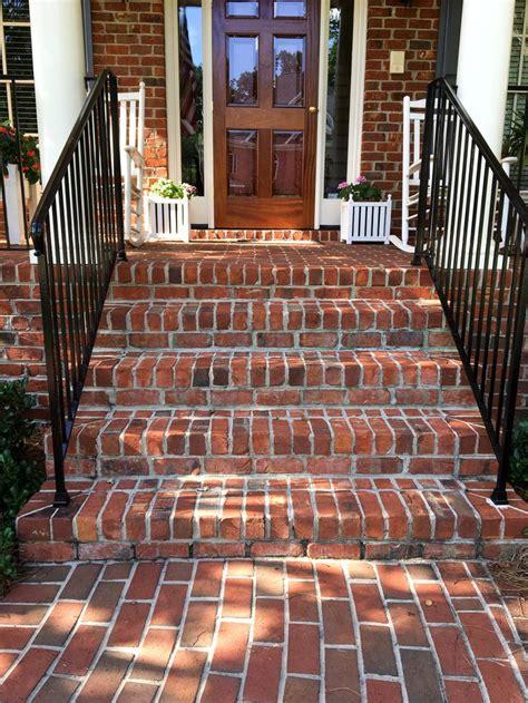 brick stairs  entranceways images  pinterest