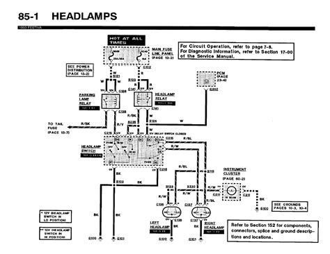 headlight switch wiring diagram for 1992 ford thunderbird