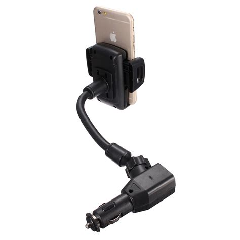 2 Port Usb Lighter Car Charger Charger Mobil Output 5v 1a Dan 2a 1 2a dual 2 usb ports car cigarette lighter charger mount holder for mobile phone ebay