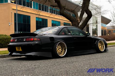 nissan work work wheels uk nissan s14a on work wheels vs xx