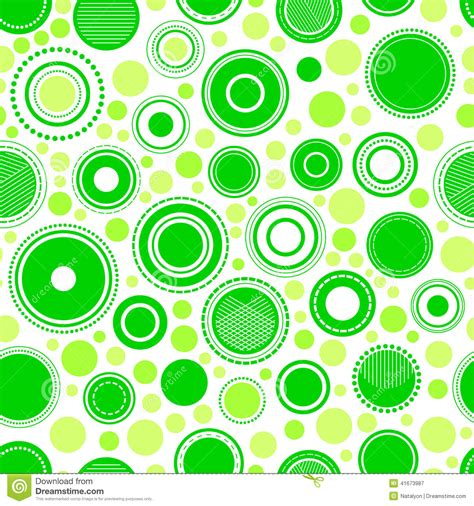 circle pattern vector background abstract geometric green circles seamless pattern vector