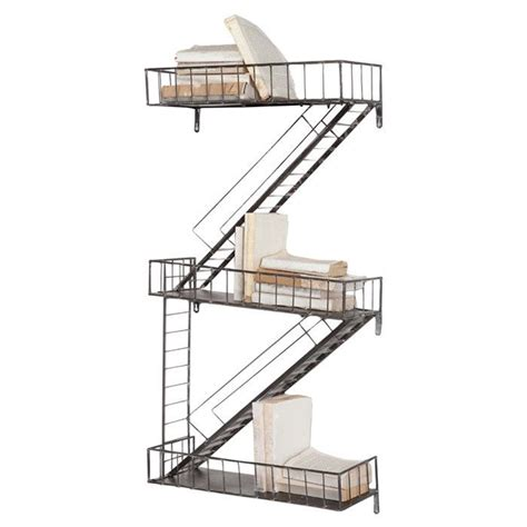 staircase wall shelf buenas ideas