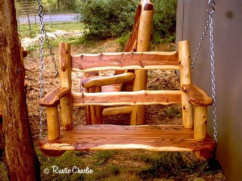 Handmade Porch Swings - free log porch swing plans woodworking projects plans