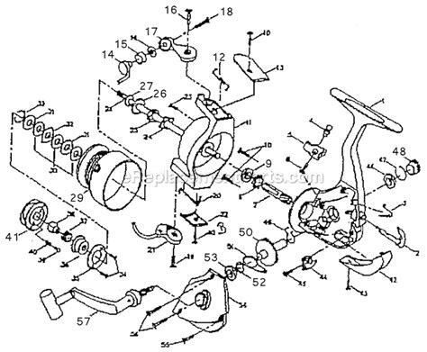 fishing reel parts diagram shakespeare 200 parts list and diagram ereplacementparts