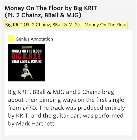 Big Krit Money On The Floor by Money On The Floor Money On The Floor By Big Krit