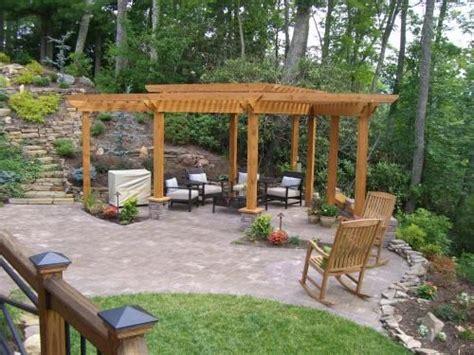 the concrete paver patio design with pergola features pinterest the world s catalog of ideas