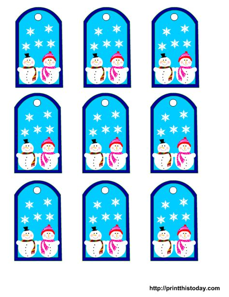 printable winter gift tags free winter tags printables