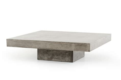 concrete coffee tables concrete coffee table modern furniture brickell collection