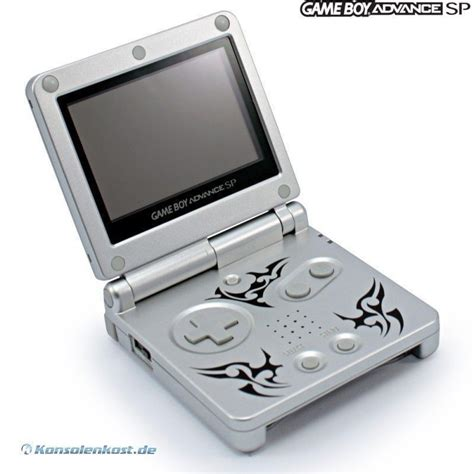 gameboy advance sp console gameboy advance console gba sp tribal edition incl power