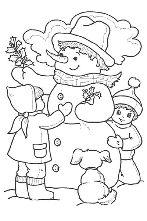 imagenes infantiles invierno invierno dibujos para colorear
