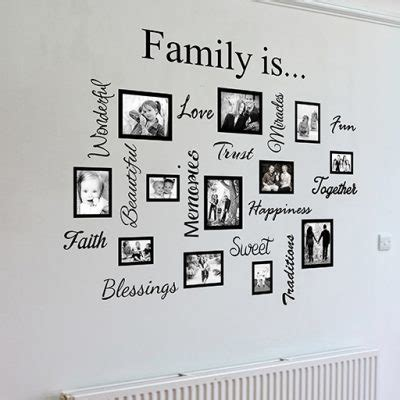 family wall sticker family word quote gallery wall wall decal sticker