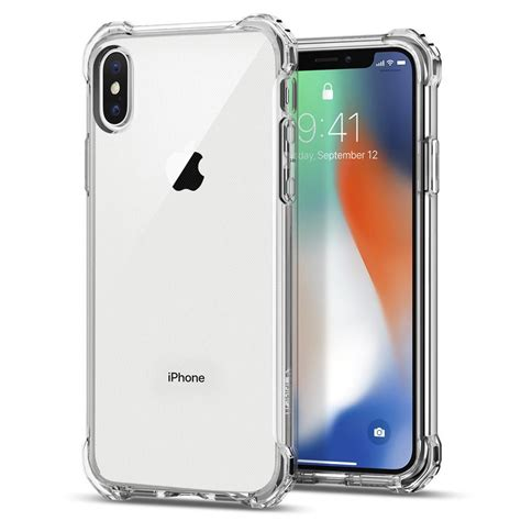 Spigen Galaxy S9 Rugged Clear Tpu Soft Clear Anti iphone x rugged cell phone spigen