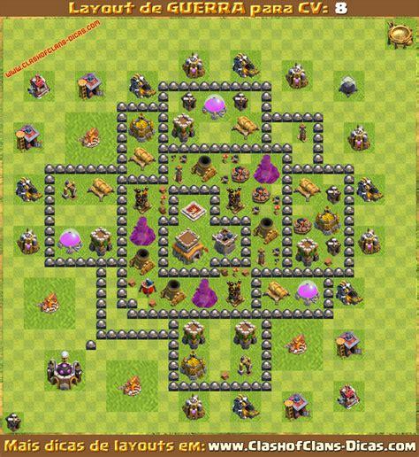 layout war cv 8 layouts para cv8 em guerra clash of clans dicas