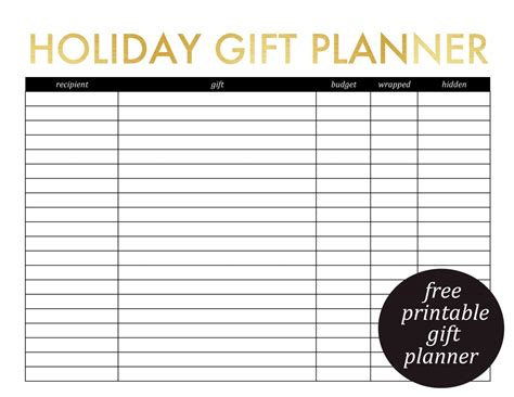 printable gift planner printable gift planner and christmas card list 187 jenny