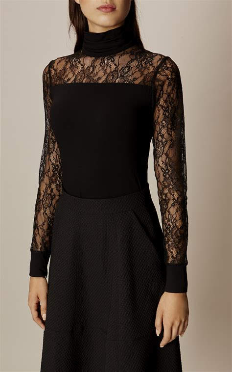 Sale Top high neck lace top millen