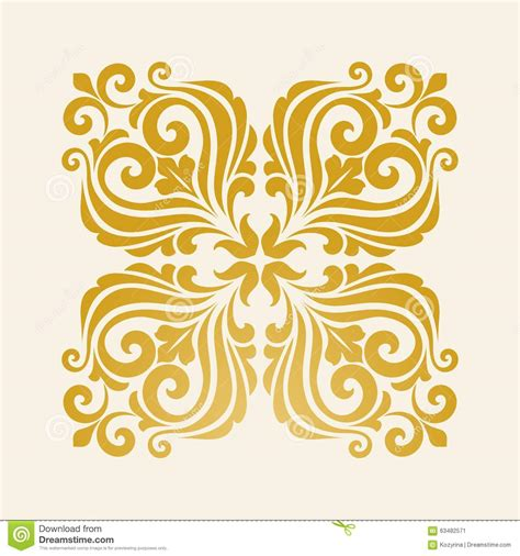 design elements square square floral element for design stock vector image