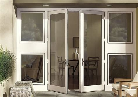 outswing patio doors with screens outswing doors odl brisa white retractable screen