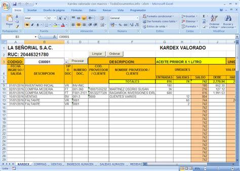 descargar control almacen en excel en portalprogramas ejemplo y formato de tarjeta de kardex en excel