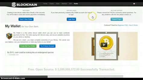 setup bitcoin wallet how to setup a bitcoin wallet with blockchain youtube