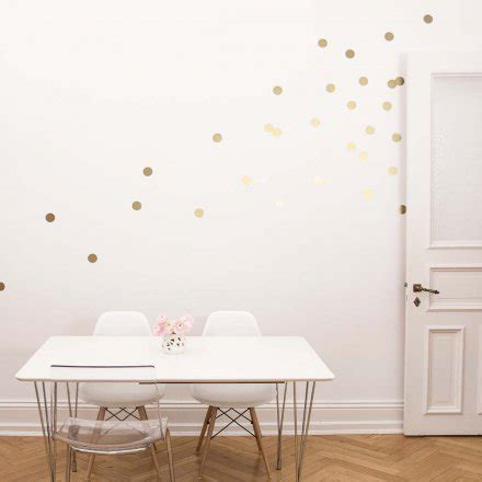 Wandsticker Dots by Eulenschnitt Wandsticker Dots Gold 18er Set Kaufen