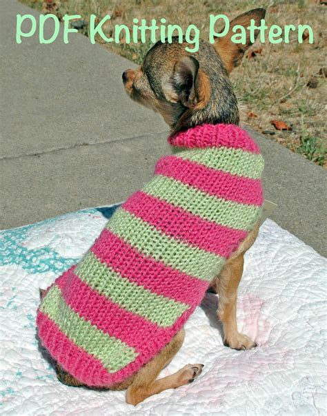 knitting pattern puppy jumper easy cute dog sweater knitting pattern