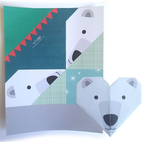 Origami Polar - origami notepaper set winter by lollipop designs