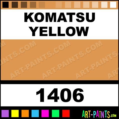 komatsu yellow acrylic enamel paints 1406 komatsu yellow paint komatsu yellow color ae