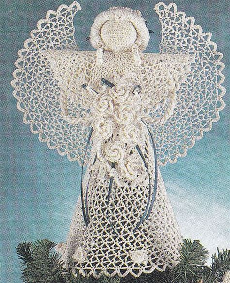 pattern for christmas angel christmas crochet patterns ornaments angel tree skirt